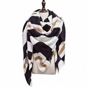 IN STOCK! Perfect Black/Tan Fall Blanket Scarf